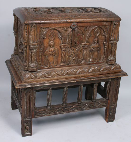 spanish colonial furniture | 18th C. Spanish Colonial Chest on Stand,  Portraits - For - Spanish Colonial Furniture 18th C. Spanish Colonial Chest On