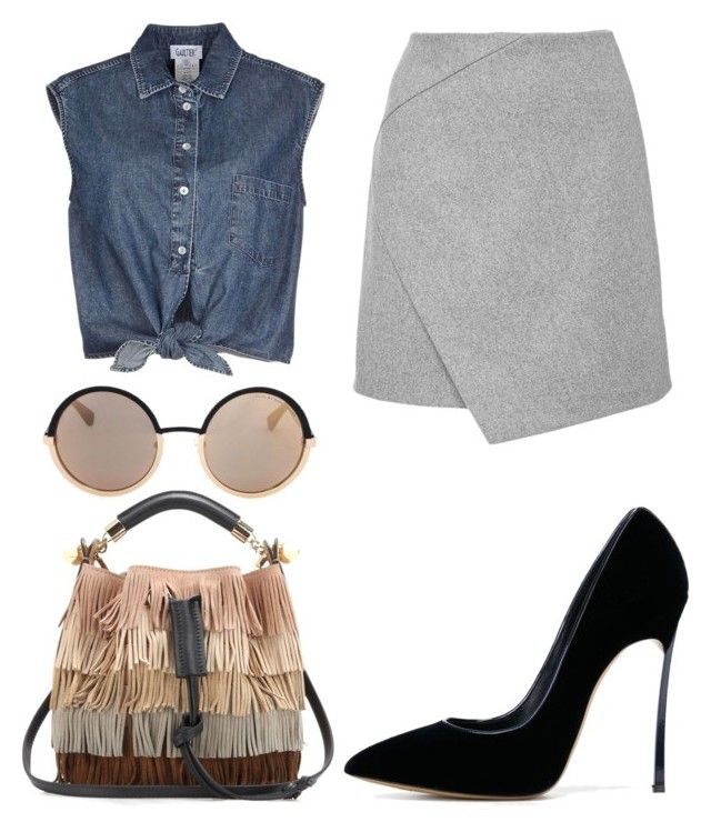 """""""Untitled #176"""" by isadora-beraldin on Polyvore featuring Jean-Paul Gaultier, Carven, Chloé, Marc by Marc Jacobs, Casadei, women's clothing, women, female, woman and misses"""