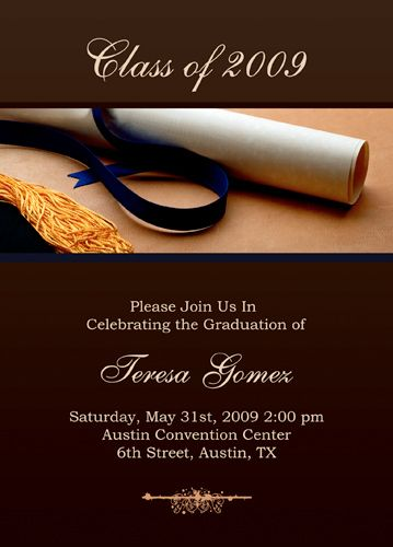 Free Graduation Invitation Templates For Word To Inspire You On How