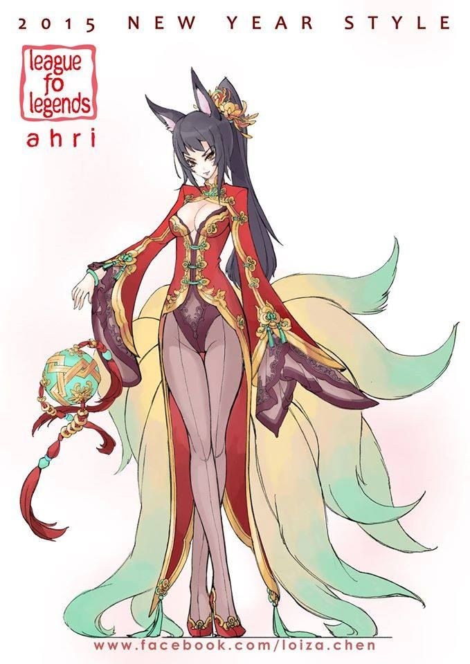 Chinese New Year Ahri In 2019 Lol League Of Legends