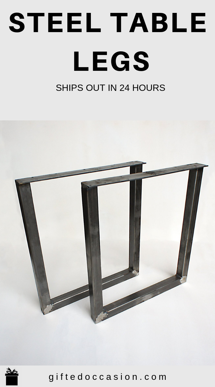 Steel Table Legs U Shape 2x2 Diy Table Legs Diy Table Legs Steel Table Legs Steel Table