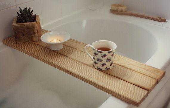 Bath tray reclaimed wood tray. bathroom decor. bath caddy. wooden ...