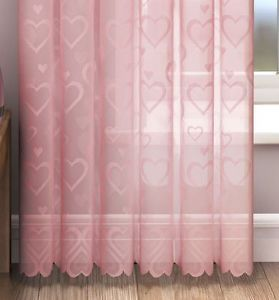 Love Heart Voile Curtain Panel Lace Curtains 54 72 90