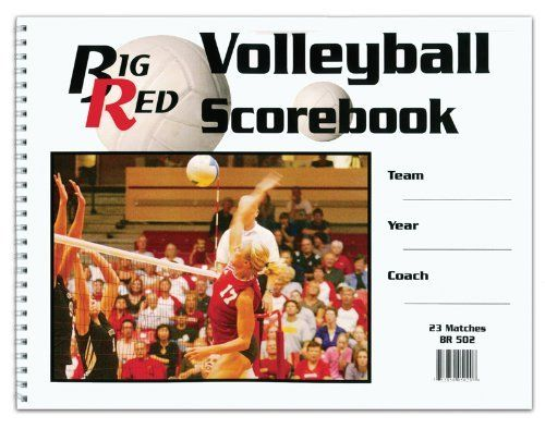 Big Red Volleyball Scorebook By Big Red 5 95 Big Red Volleyball Scorebook Is 9 X 12 Inches And Wire Spiral Bound At The Si Volleyball Sports Baseball Cards