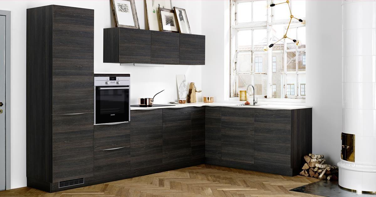 Skapa extra värme i ditt kök med Dark Wood. Hos Kvik har vi kök för ...