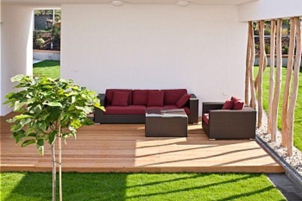 L\' aménagement de terrasse avec un sol du bois - Archzine.fr   Arch