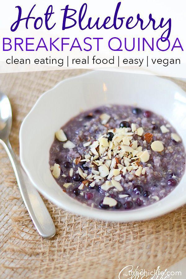 Photo of Hot Blueberry-Honig-Frühstück Quinoa
