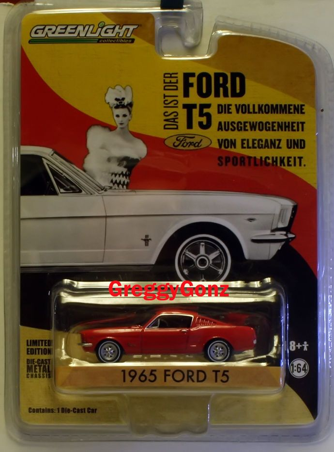 Greenlight 2015 * 1965 Ford T5 * Red Mustang * HOBBY EXCLUSIVE 1:64 #GreenLight #Ford