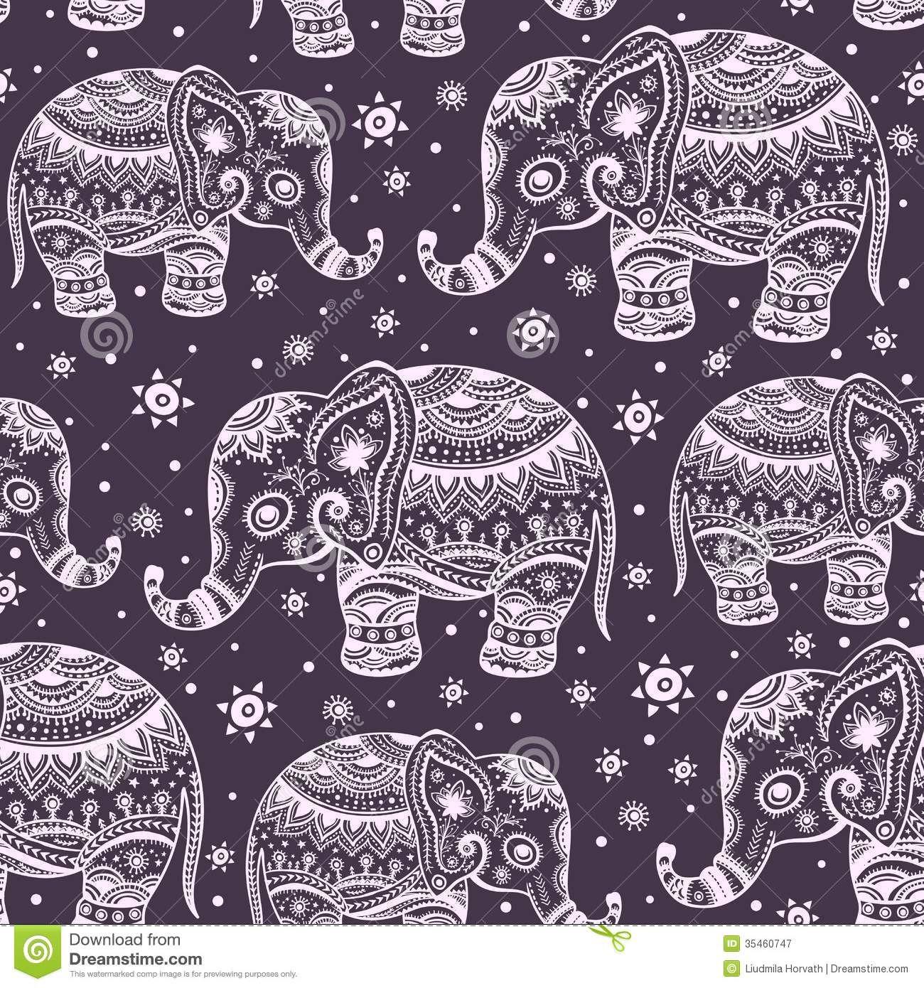 Tribal Elephant Wallpaper Tribal elephant wallpaper | back ...