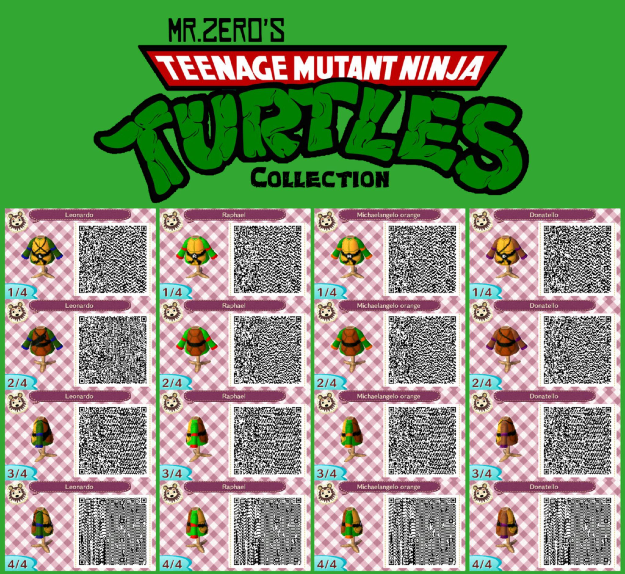 Animal Crossing New Leaf Tmnt Qr Collection By Misterzero On