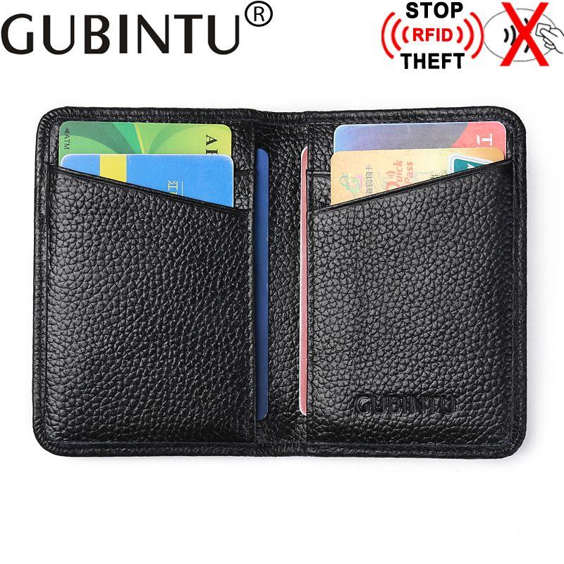 Gubintu genuine cow leather credit card holder fashion leather ...
