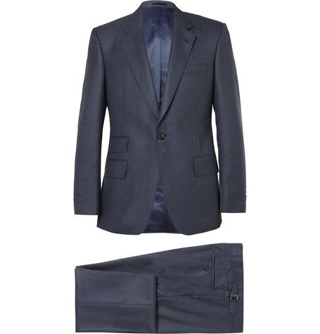 Navy Slim-Fit Birdseye Wool Suit  | MR PORTER
