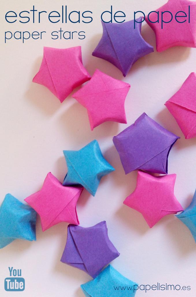 Estrellas de papel 3D Paso a paso Tiras de papel Manualidades