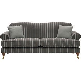 Heart Of House Sherbourne Large Striped Sofa Charcoal At Argos Co Uk Your Online For Sofas