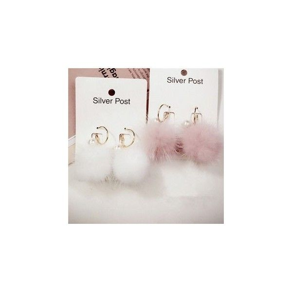 Pompom Earrings ($4.90) ❤ liked on Polyvore featuring jewelry, earrings, accessories, grey earrings, earring jewelry, poms jewellery, pom pom earrings and gray earrings