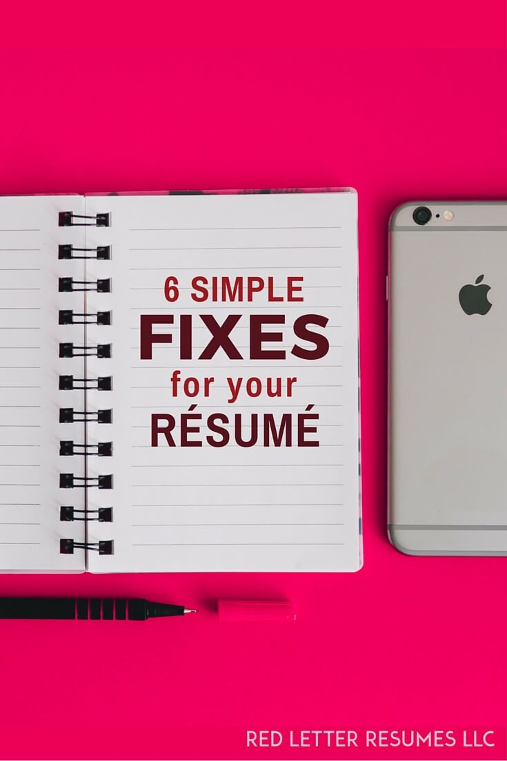 6 easy ways to fix your resume right now easy career advice and