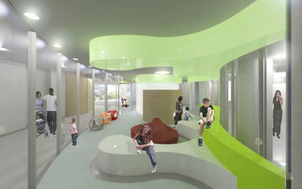 University Of Iowa Children 39 S Hospital Iowa Usa Foster Partners Interior Visualisation