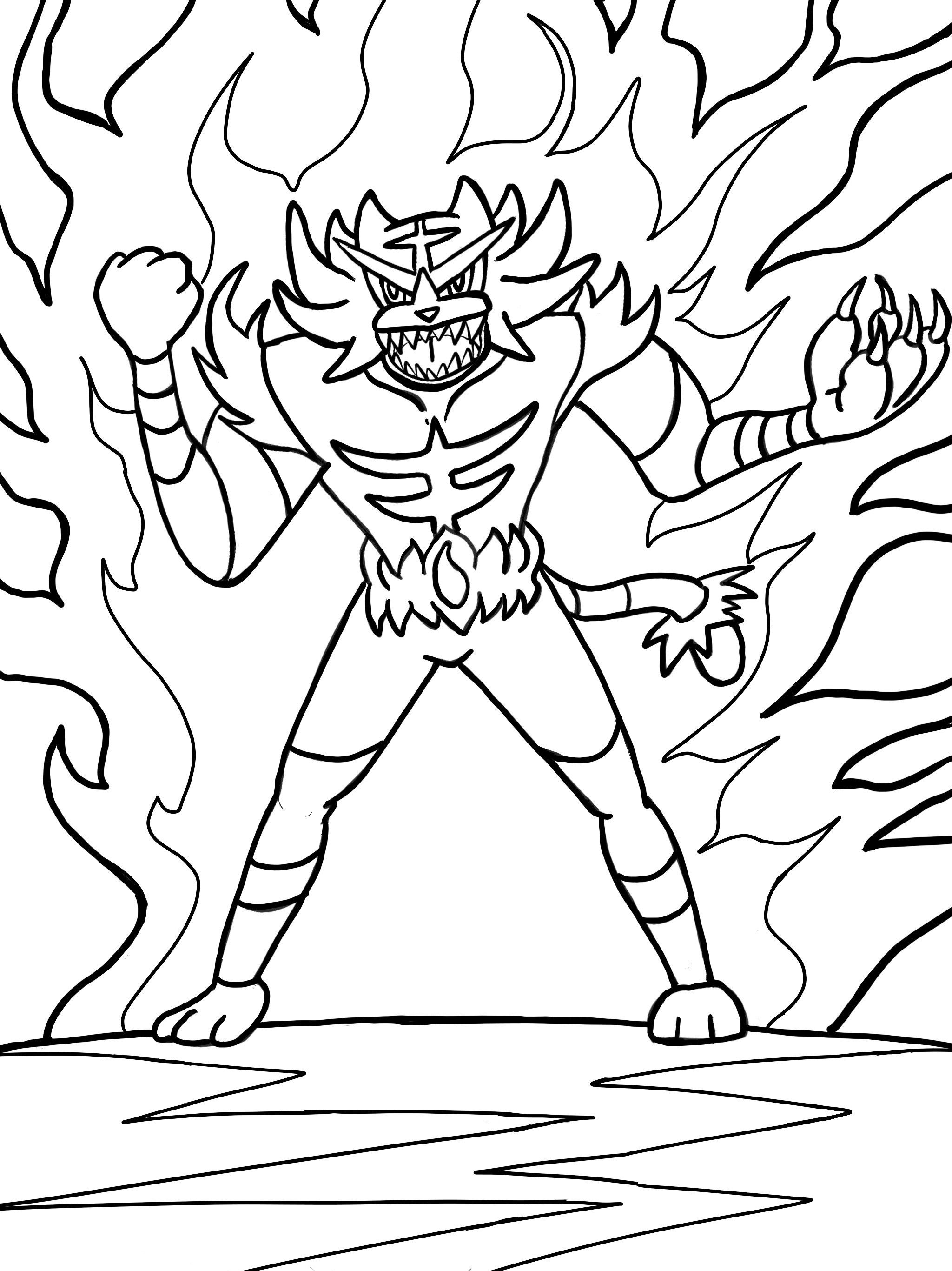 Pokemon Coloring Pages Incineroar