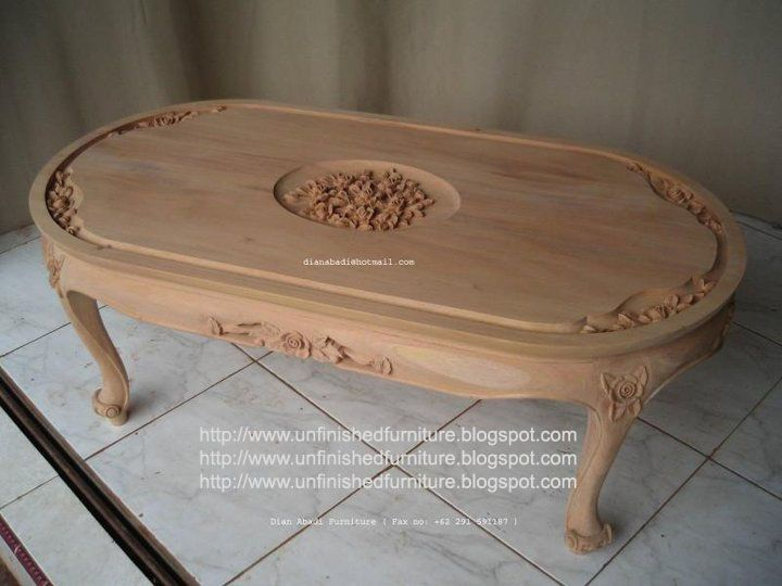 Unfinished Mahogany Furniture Small Rose Carved Coffee Table Made Of Fine Solid Kiln Dry Mahogany Italian Style Furniture Raw Furniture French Style Furniture