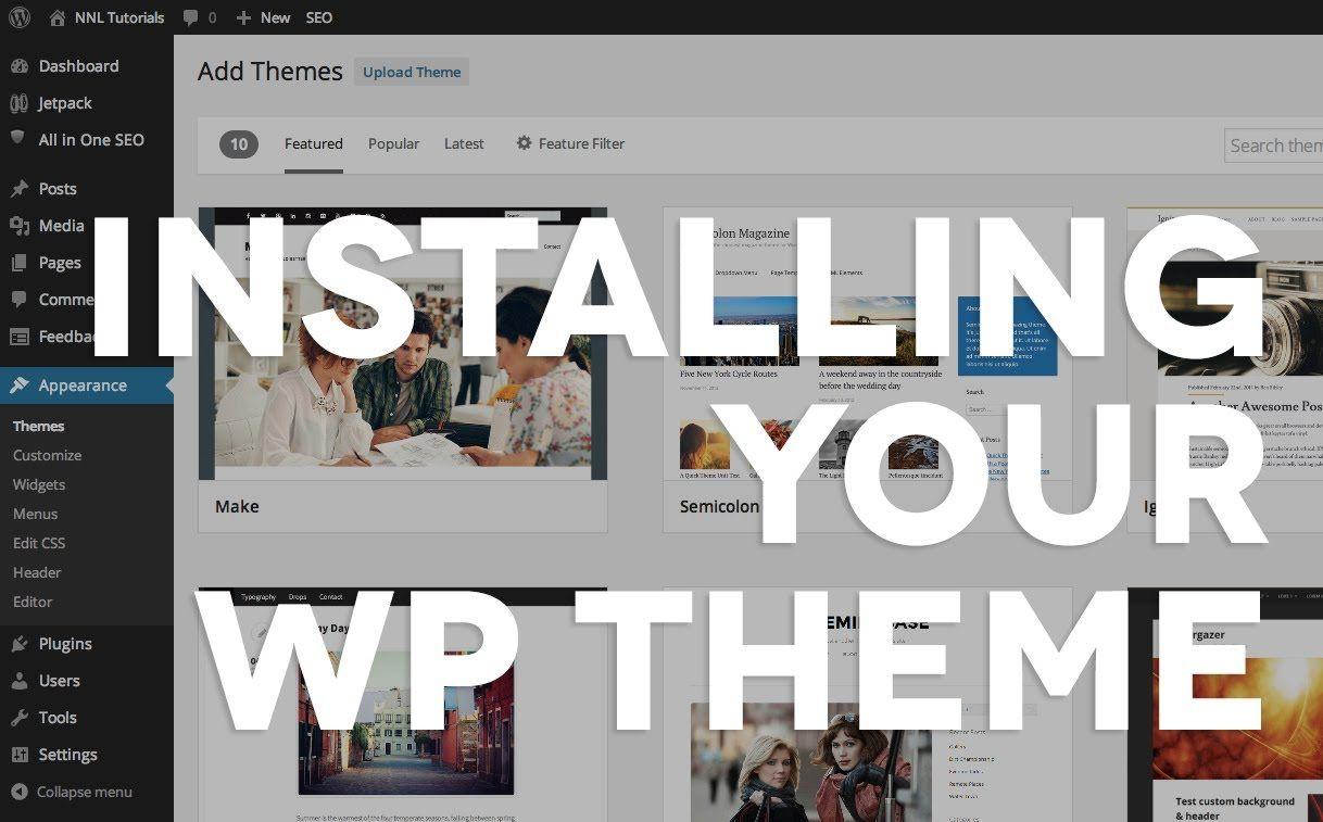 07 Installing a purchased WordPress theme   WordPress   Pinterest