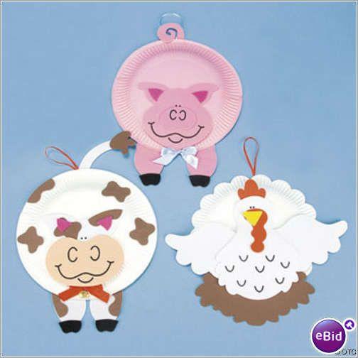 Paper Plate And Foam Farm Animal Craft Kit dz)  sc 1 st  Pinterest & paper plate farm animals | Farming- Farm Animals | Pinterest ...