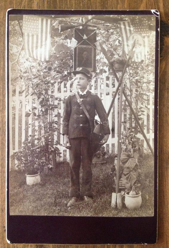 Antique Civil War Era Photo Print Cabinet Card by Piklandia