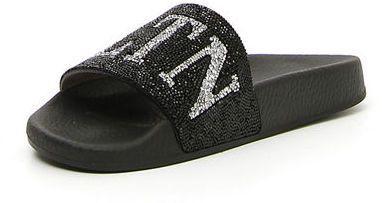3eb194bfe717 Valentino VLTN Crystal-Embellished Pool Slide Sandal