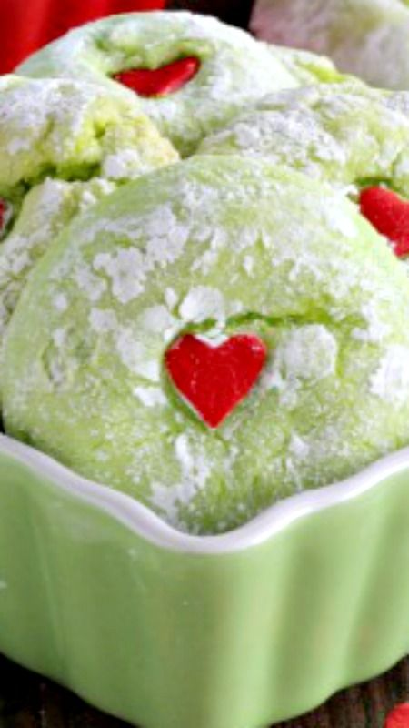 Grinch Cookies Recipe These Cake Mix Grinch Cookies Are So Easy