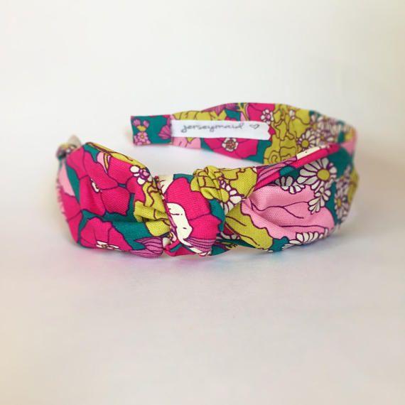 b7a1731dc4b5 Cute bow Headbands for women narrow side knot headband Women s Fabric  Headband side knot topknot bow