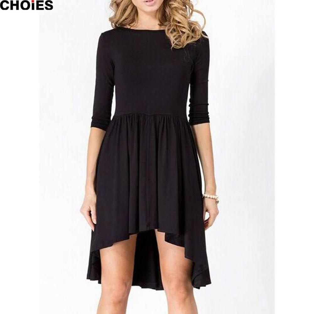 Women colors half sleeve o neck pleated knee length dress spring