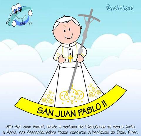 Pin De Gloria Moraleda Decoracion E I En Cute Things Juan Pablo Ii Virgen Caricatura San Juan Pablo Ii