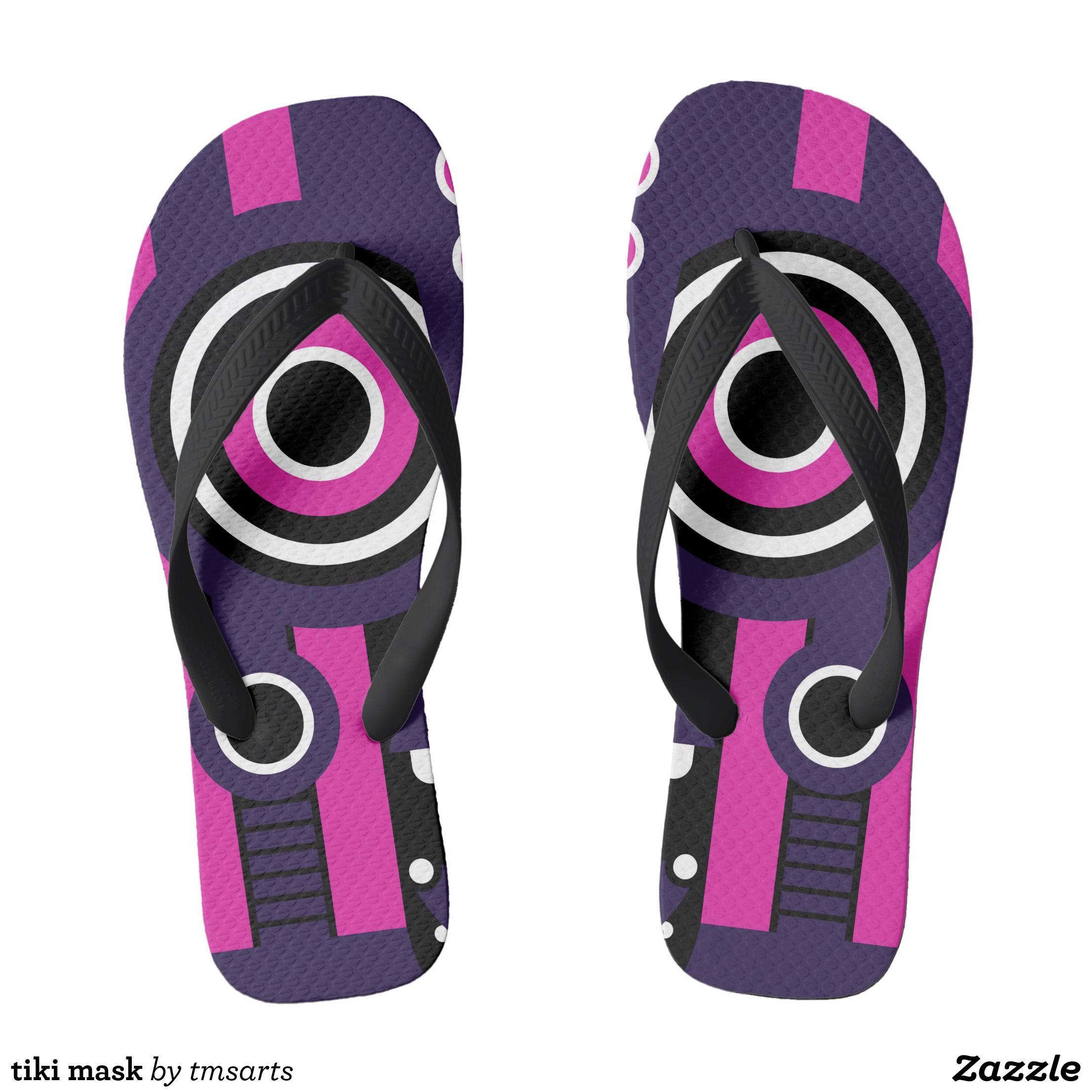 tiki mask flip flops | Zazzle.com
