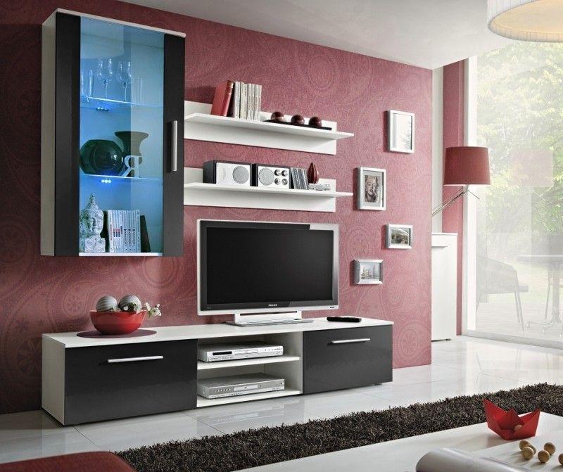 Tv Kast Wit Modern.Carlisle 4 Tv Meubel Wit Modern Tv Wall Units Living Room