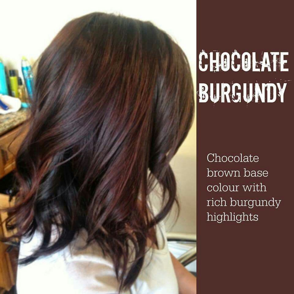 Chocolate Burgundy Burgundy Brown Hair Hair Color Chocolate Brunette Hair Color