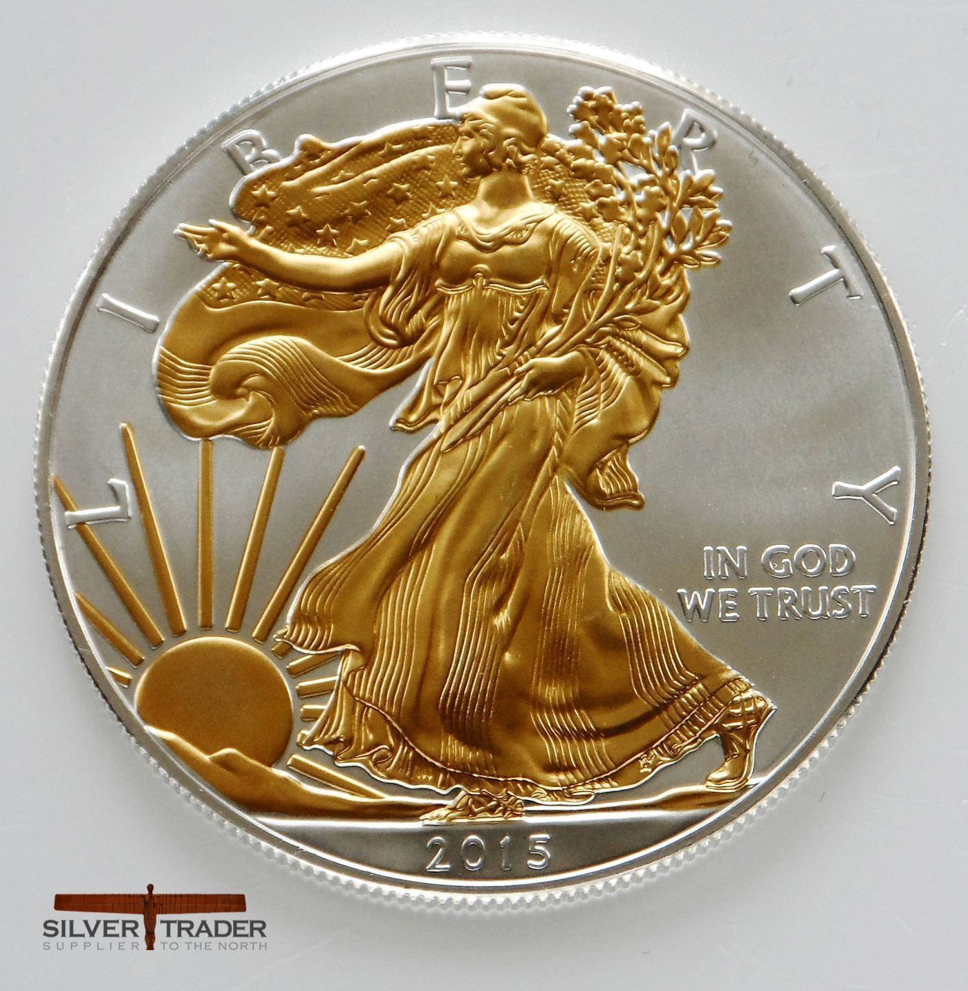 American Eagle Gold Gilded Silver Bullion Coin Goldbullion 14kgold Silver Bullion Coins