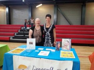 Dana Young and Christine Peck at Team Decatur Get Active event