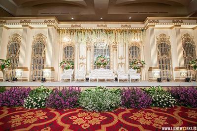 berbagai inspirasi dekorasi pernikahan indoor, dari