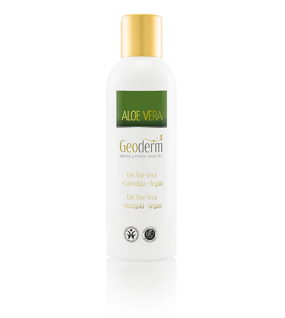 GEL ALOE VERA + CALÉNDULA + ARGÁN (NATURAL y ECOLÓGICO) http://www.geoderm.es/productos-cosmetica/aloe-vera/corporal/gel-aloe-vera-calendula-argan-natural-ecologico
