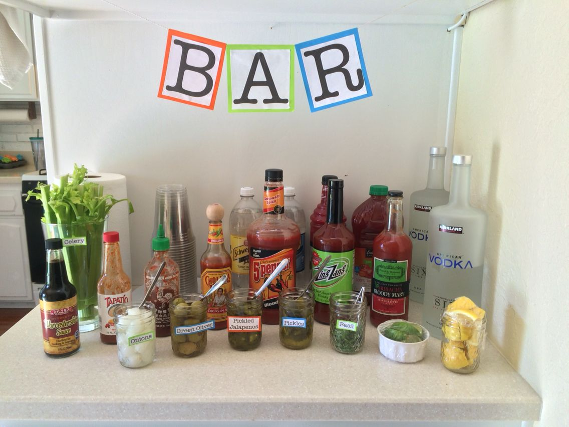 Baby shower Bloody Mary bar!
