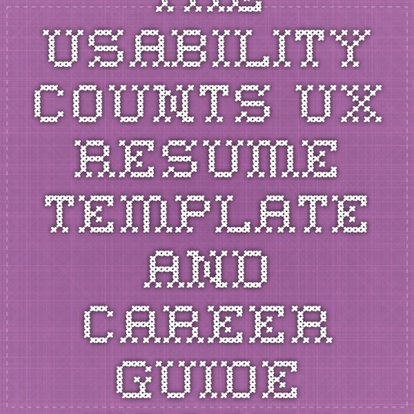 List of Articles Patrick Neeman The Usability Counts UX Resume - ui ux resume