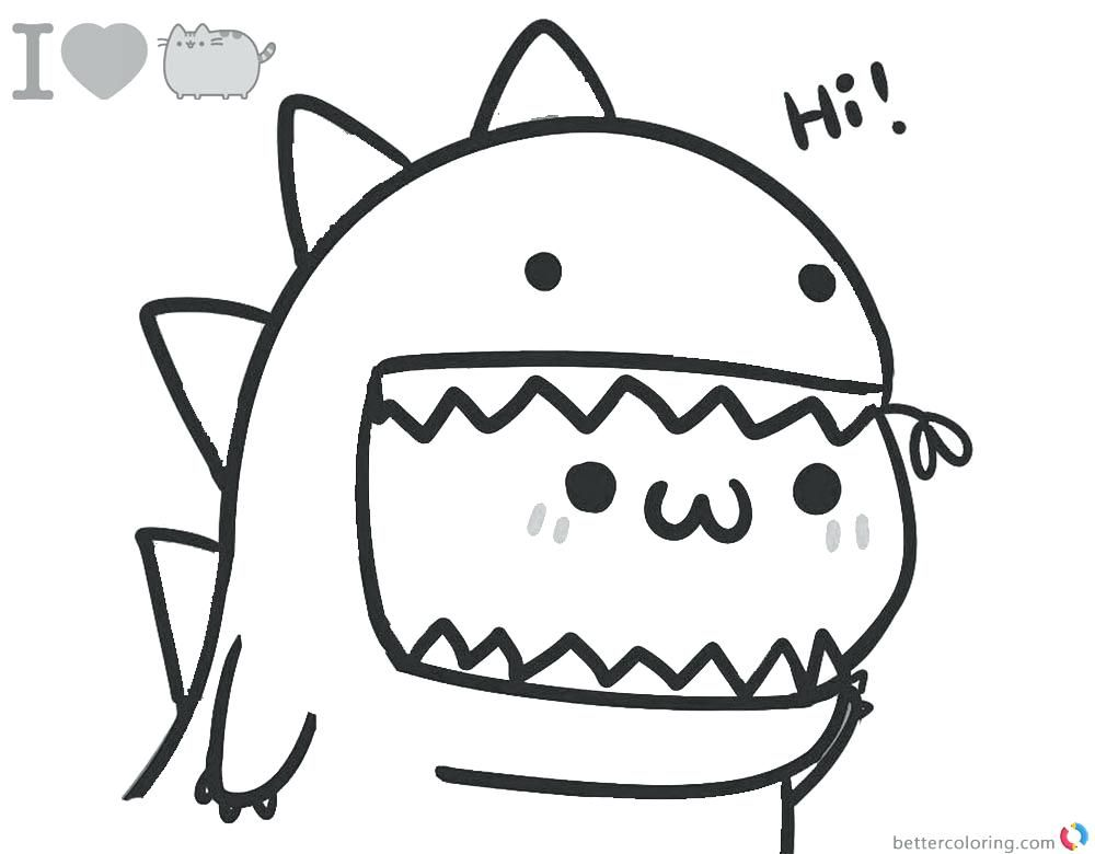 Pusheen Cat Pusheen Coloring Pages Cat Coloring Page Cute