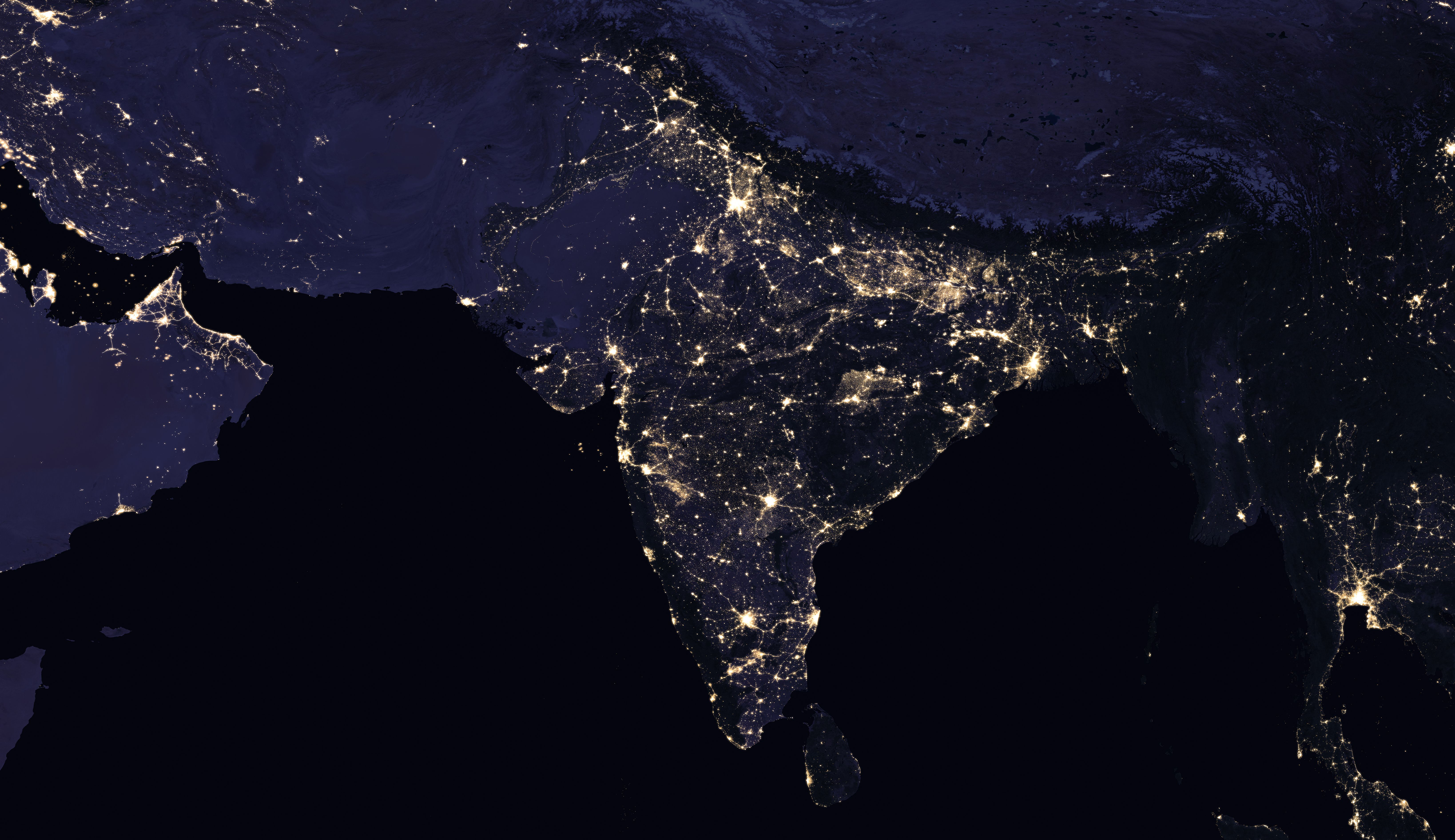 New night lights maps open up possible real time applications earth at night gumiabroncs Choice Image