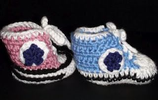 Crochet Geek - Free Instructions and Patterns: Crochet Baby High Top Booties