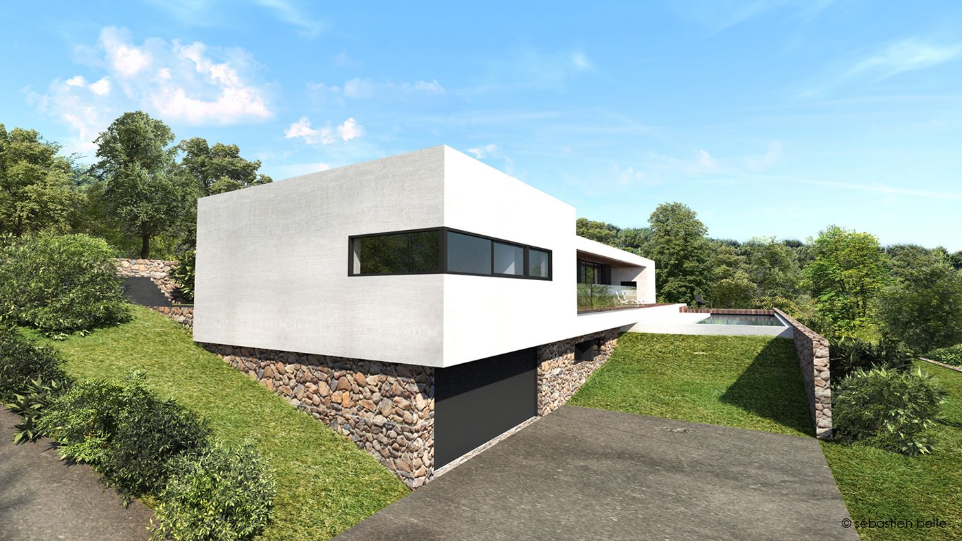 Villa d architecte contemporaine for Architecte maison moderne