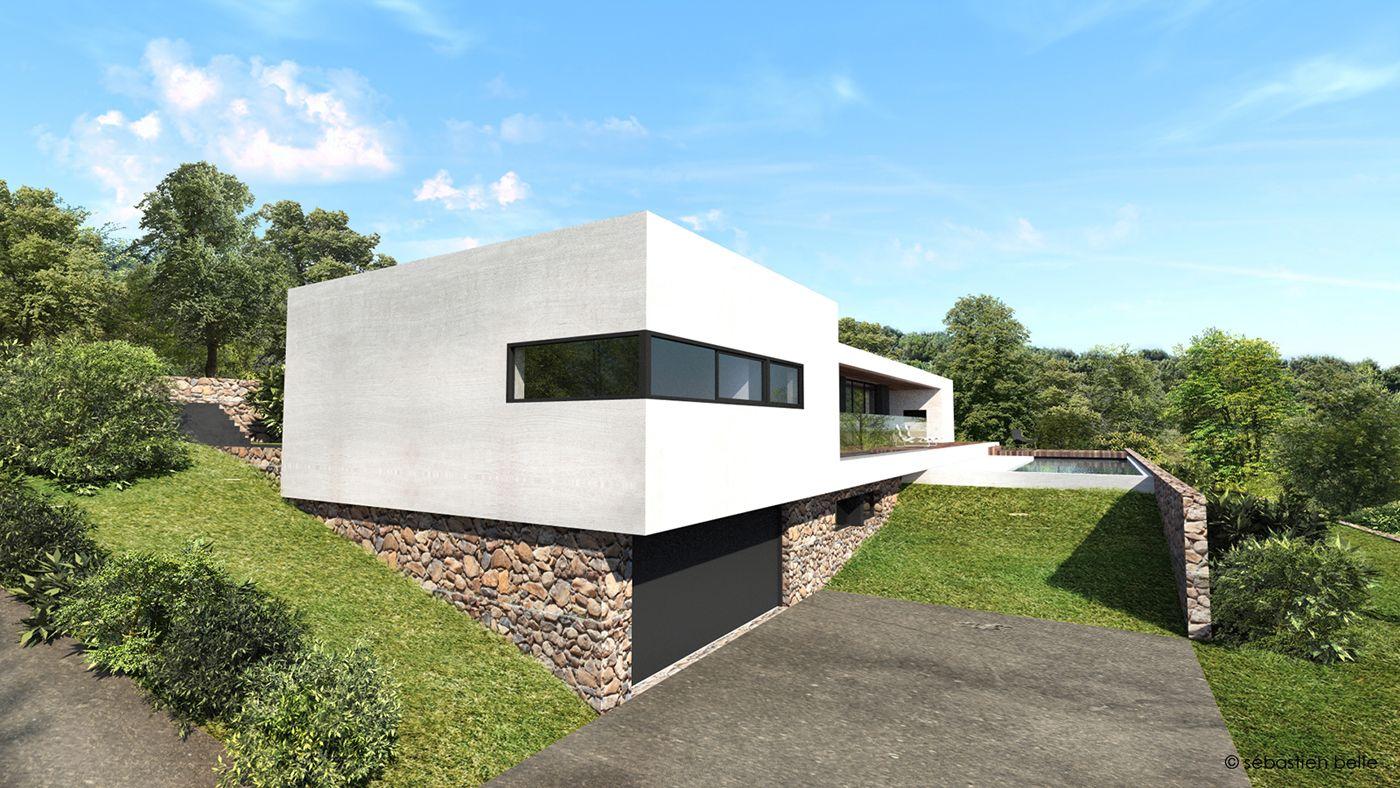 Maison contemporaine aix en provence bouches du rh ne for Voir interieur maison moderne