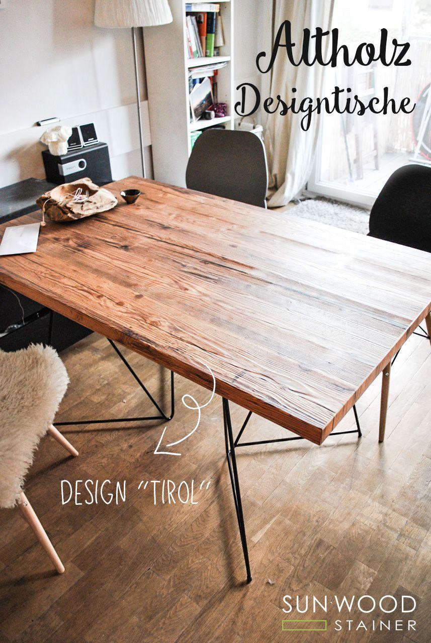 Altholztisch Design Tirol 02 Alter Holztisch Altholz Design