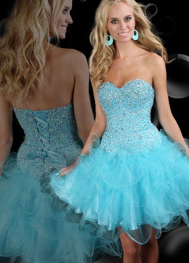 Deb Shops #Ombre Strapless Short #Prom #Dress with Spliced Bodice ...