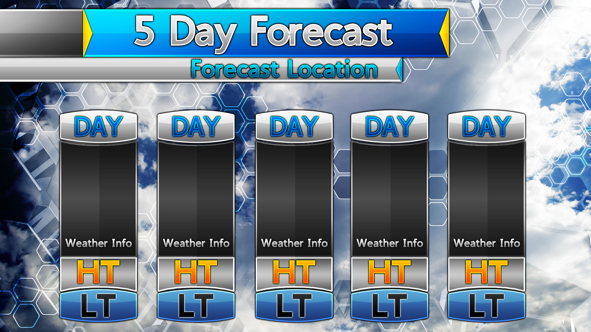5 Day Weather Forecast Blank Template