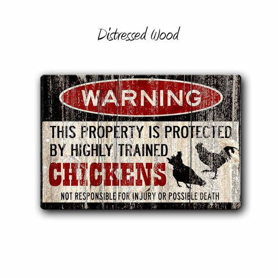 Funny Chicken Sign Funny Metal Signs Chicken Warning Sign