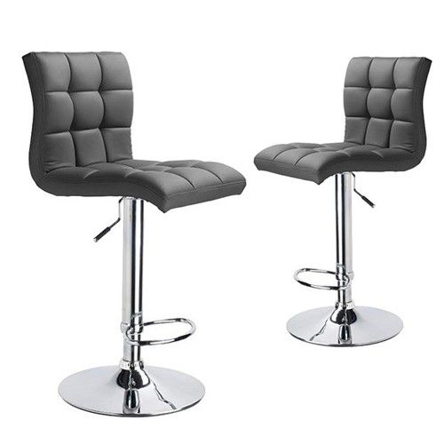 Awesome Set Of 2 Martini Adjustable High Back Padded Swivel Bar Machost Co Dining Chair Design Ideas Machostcouk